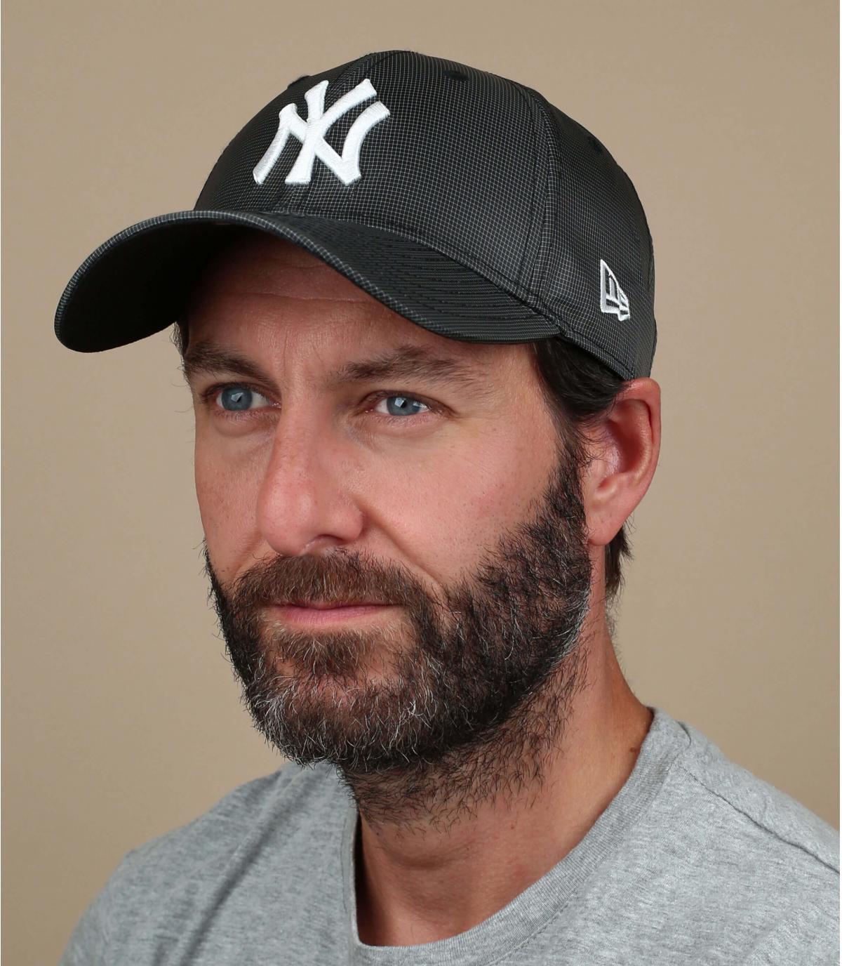 cappellino ripstop NY nero