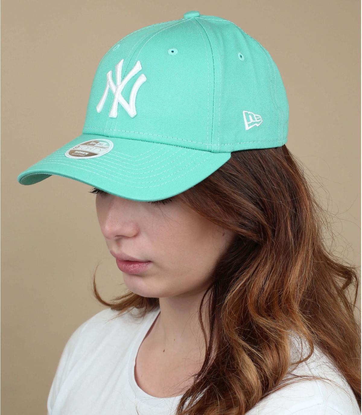 cappellino NY da donna verde