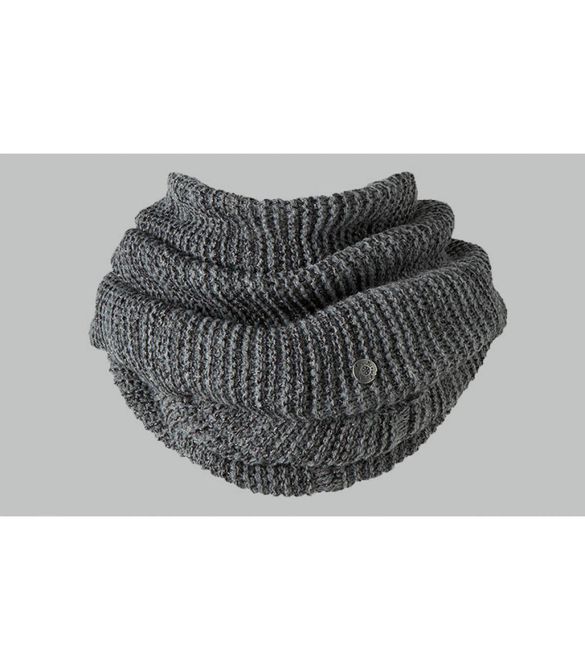 Sciarpa ad anello grigio