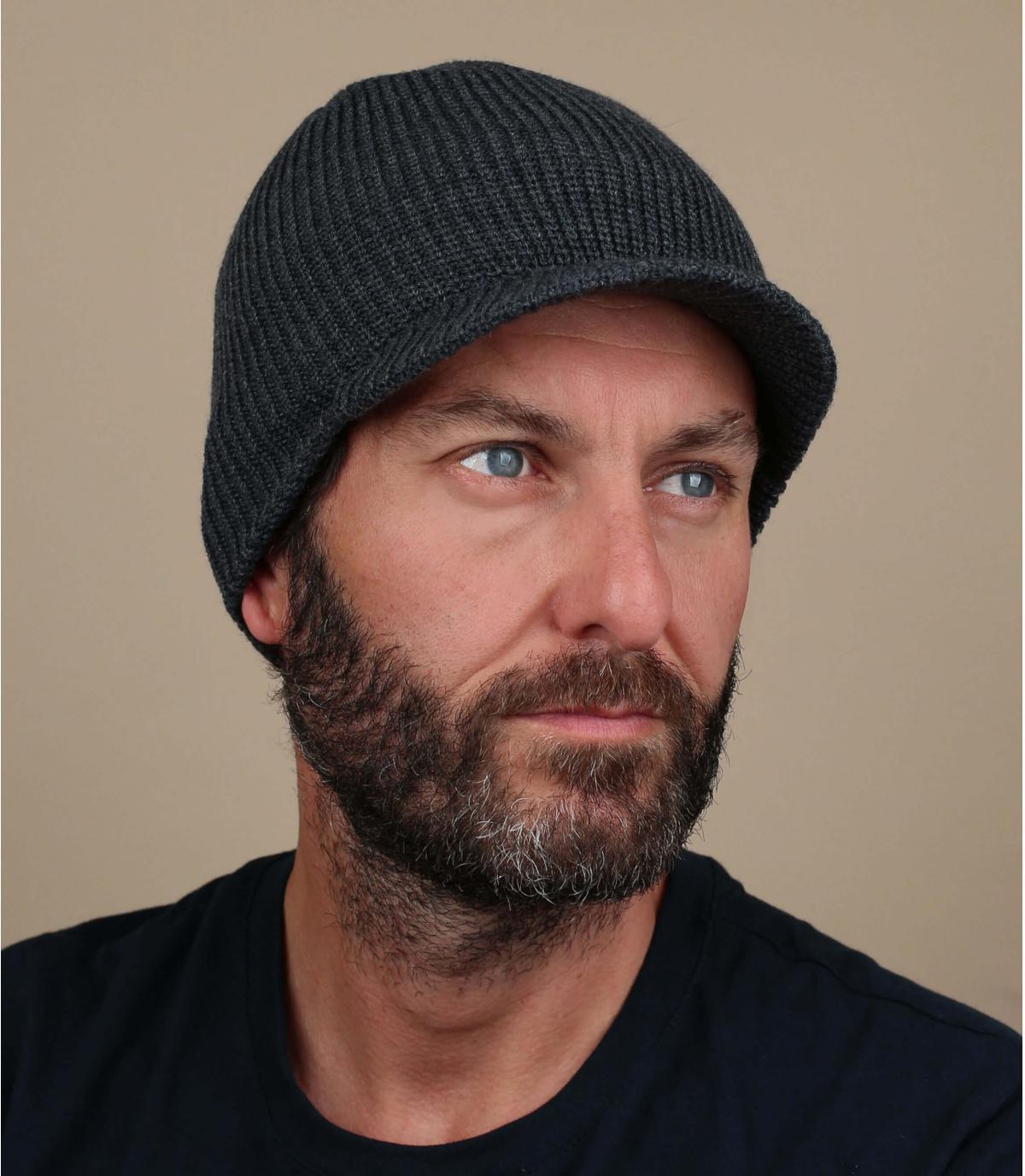 Cappello con visiera grigia Volcom