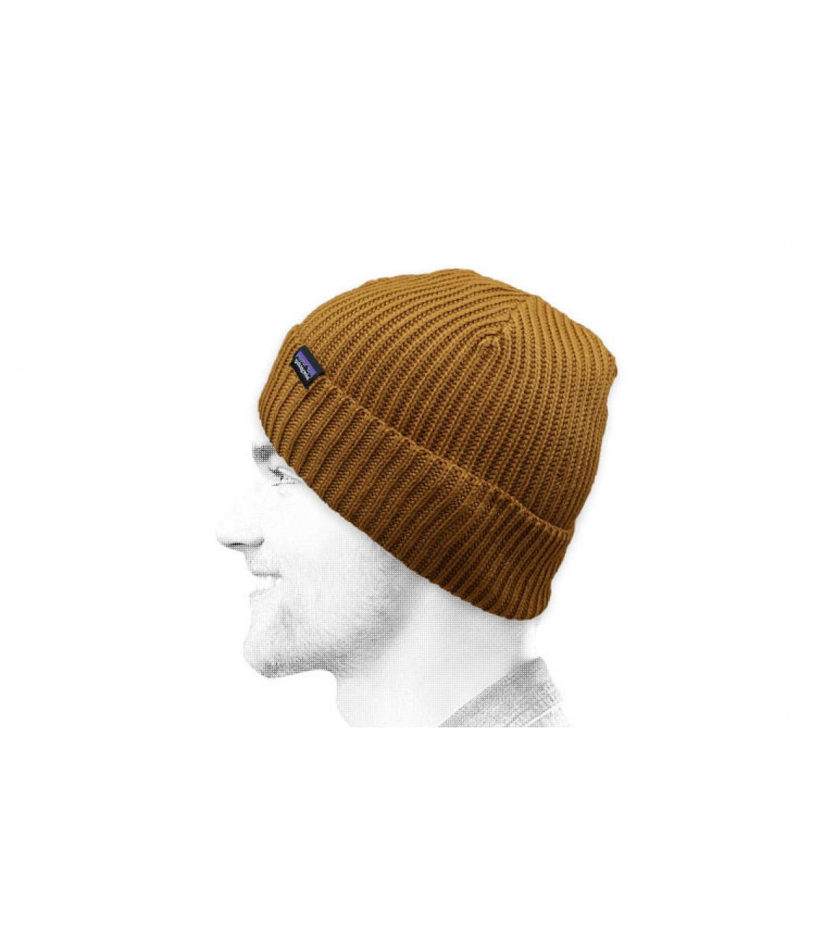 Cappello a cuffia beige patagonia