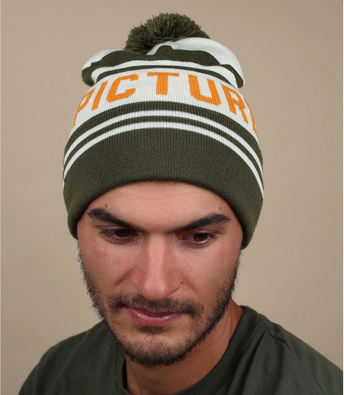 Picture cappello pompon verde