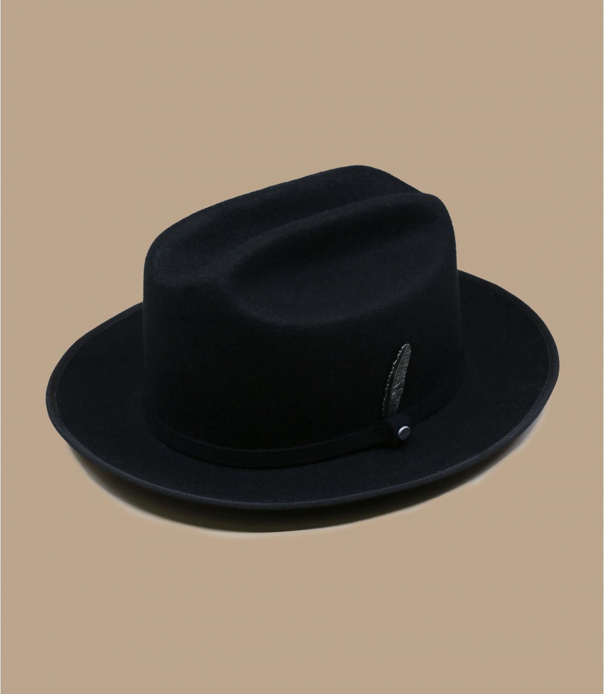 cappello di feltro nero Stetson