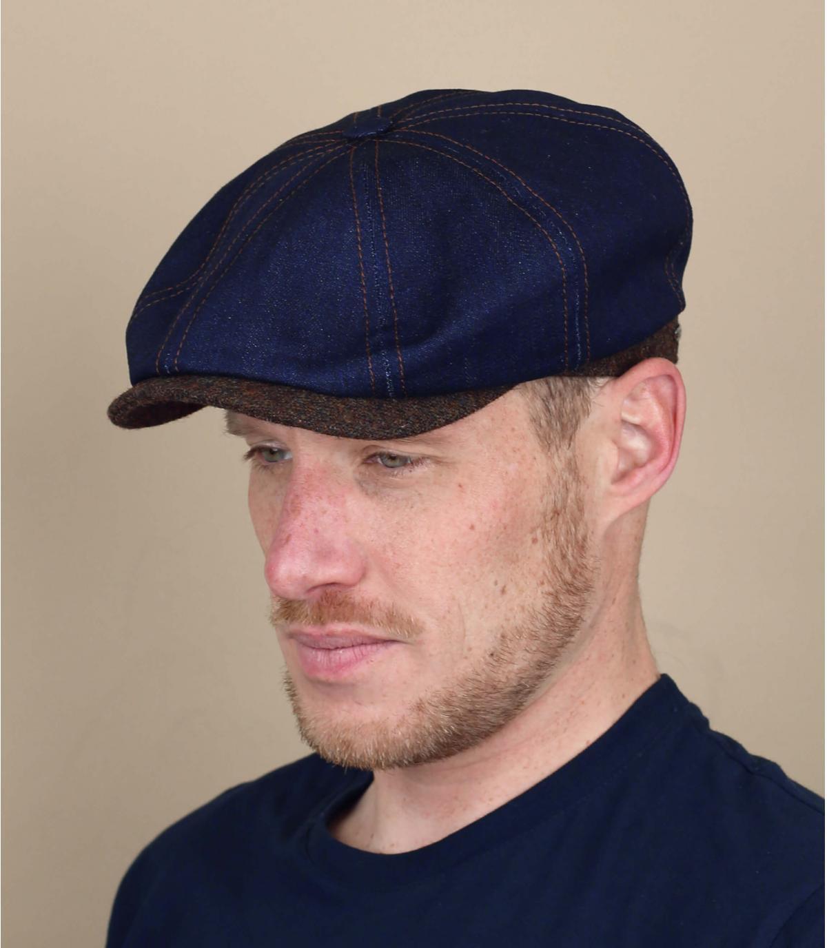 berretto strillone jean blu