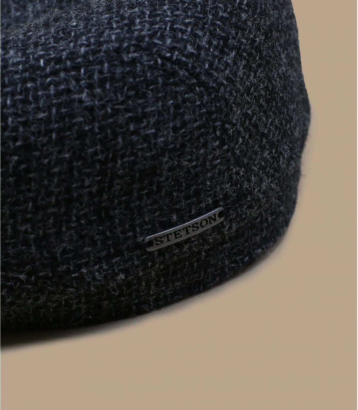 Berretto grigio lana shetland