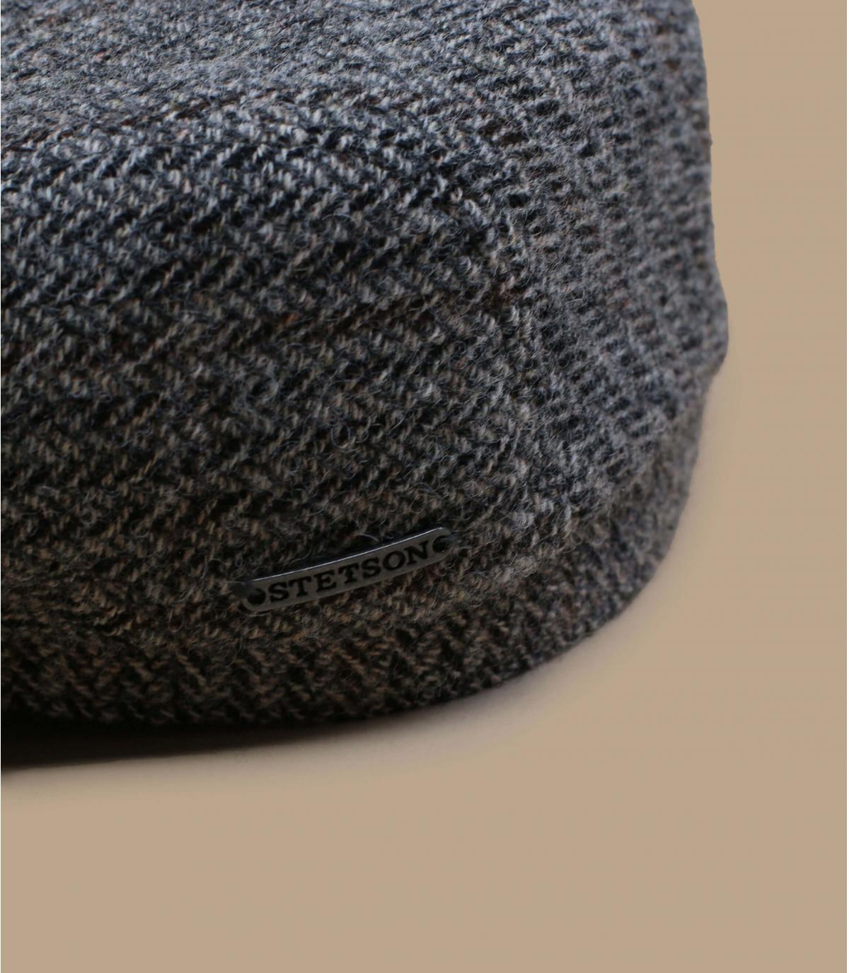 Dettagli Driver Cap Virgin Wool Herringbone grey - image 2