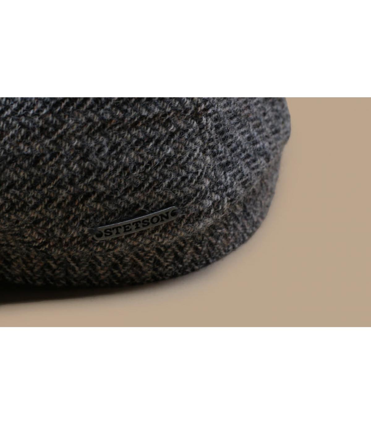 Dettagli Driver Cap Virgin Wool Herringbone grey - image 3