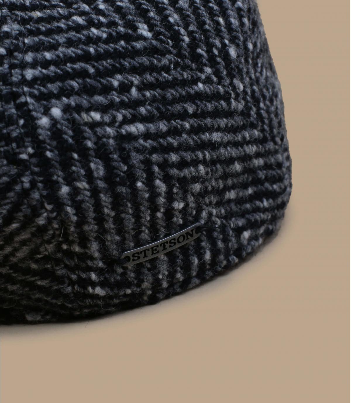 Dettagli Ivy Cap Herringbone black white - image 2