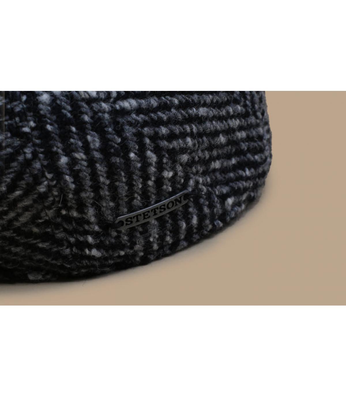 Dettagli Ivy Cap Herringbone black white - image 3