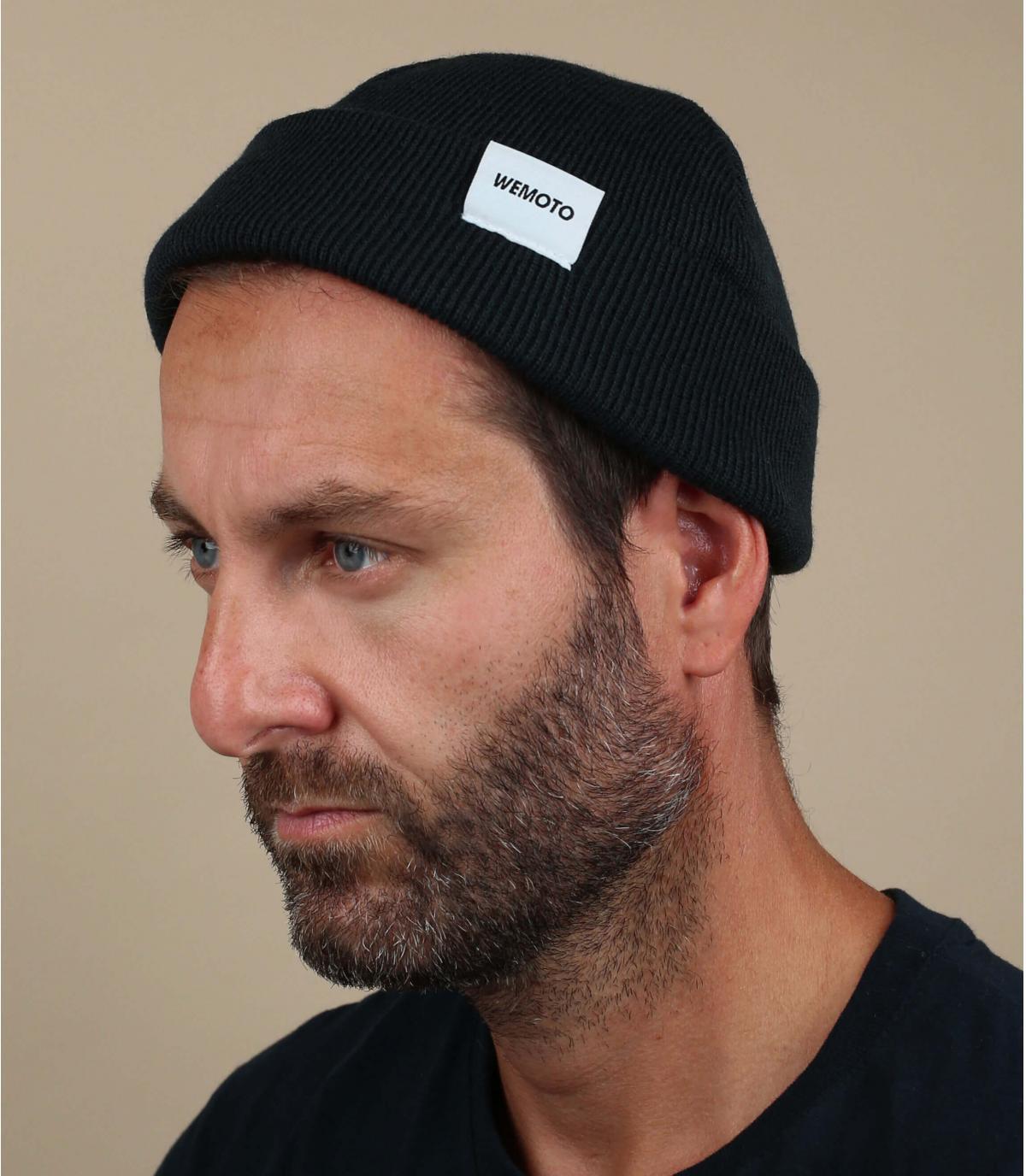 cappello nero docker Wemoto