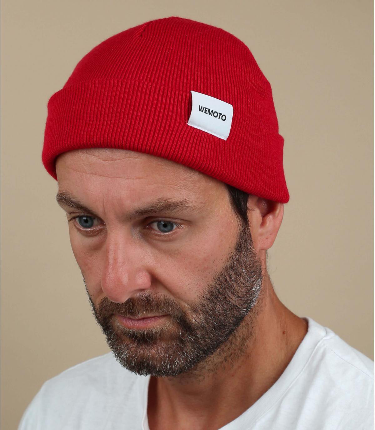Cappello docker rosso Wemoto