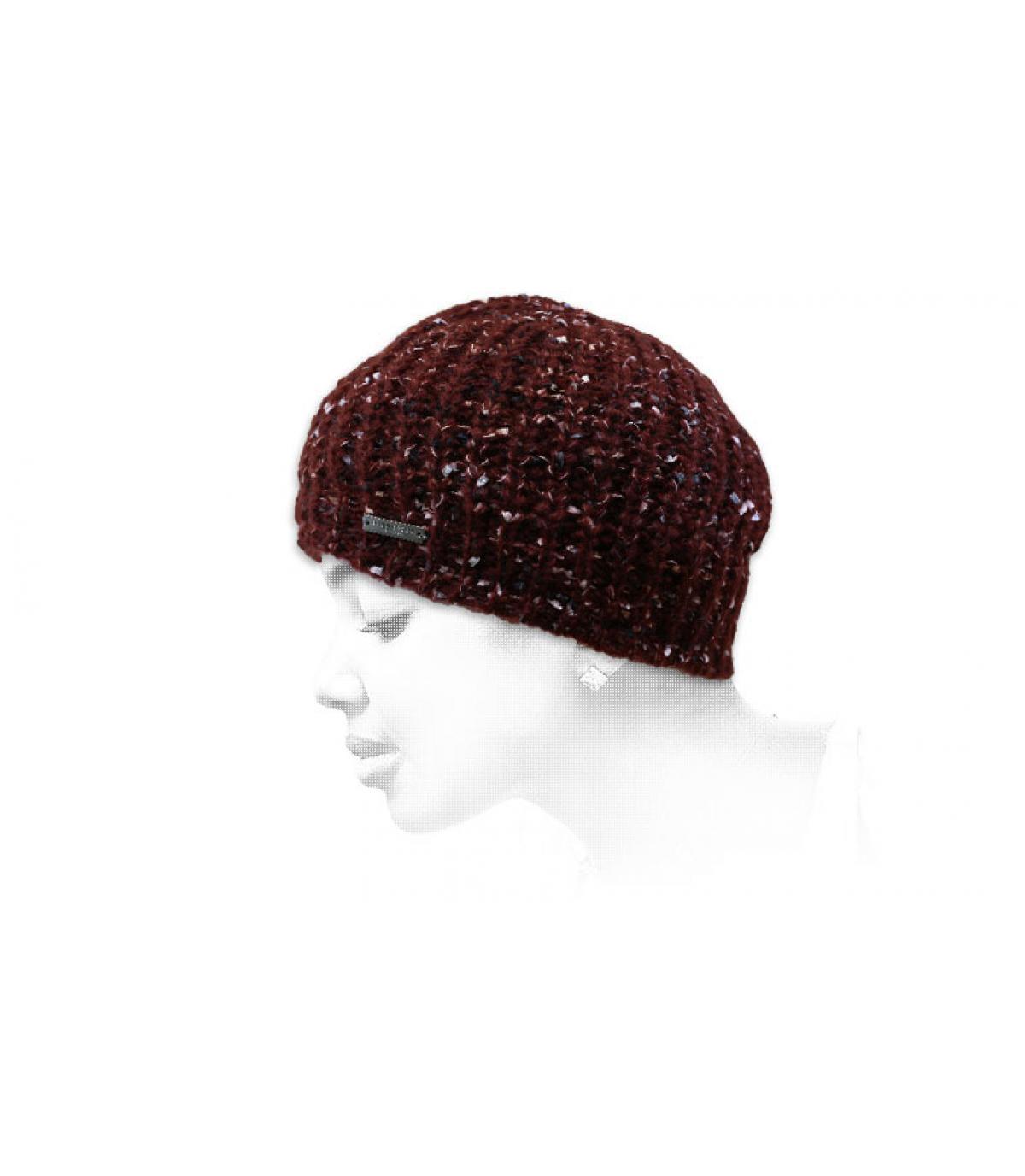 cappello lungo bordeaux
