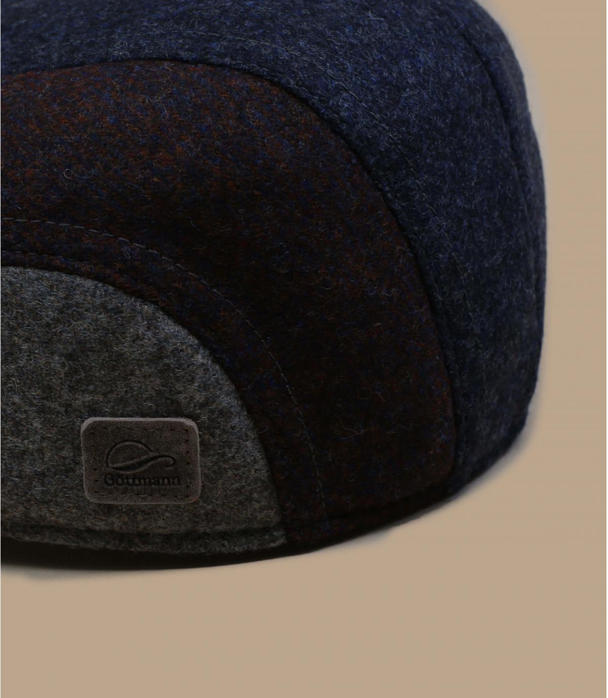 cuffie antirumore in lana blu