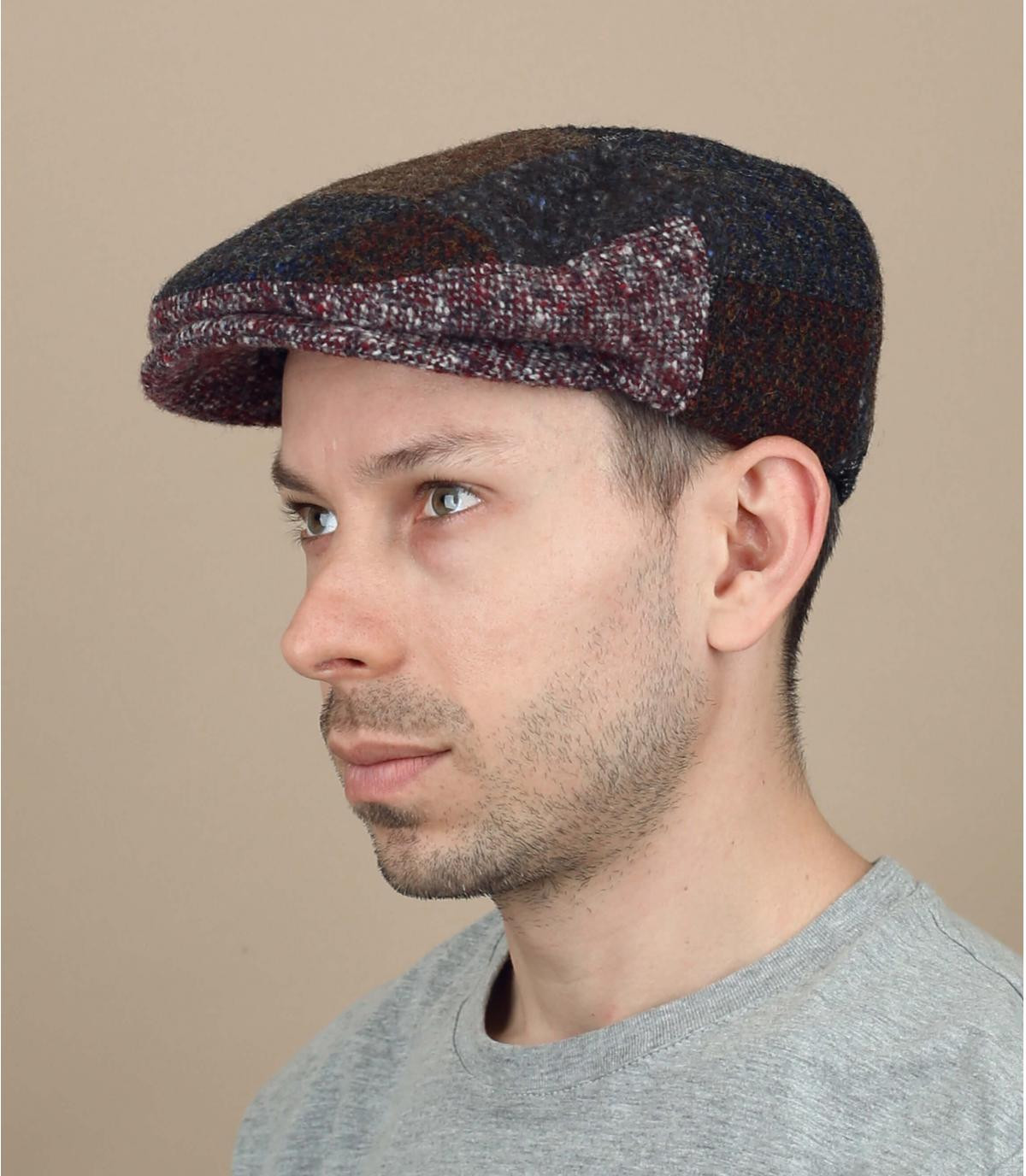 berretto in lana patchwork
