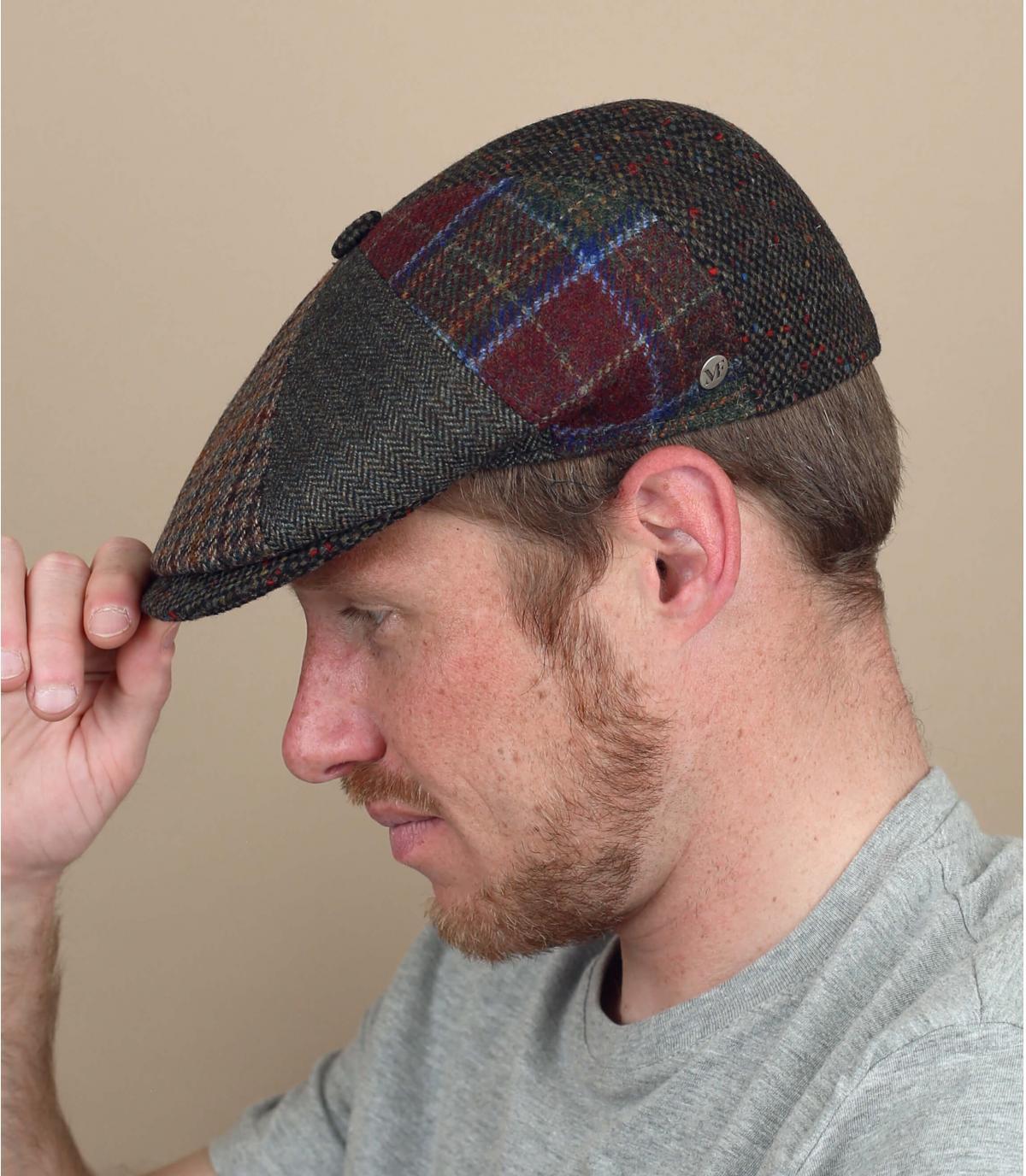 berretto strillone patchwork di lana
