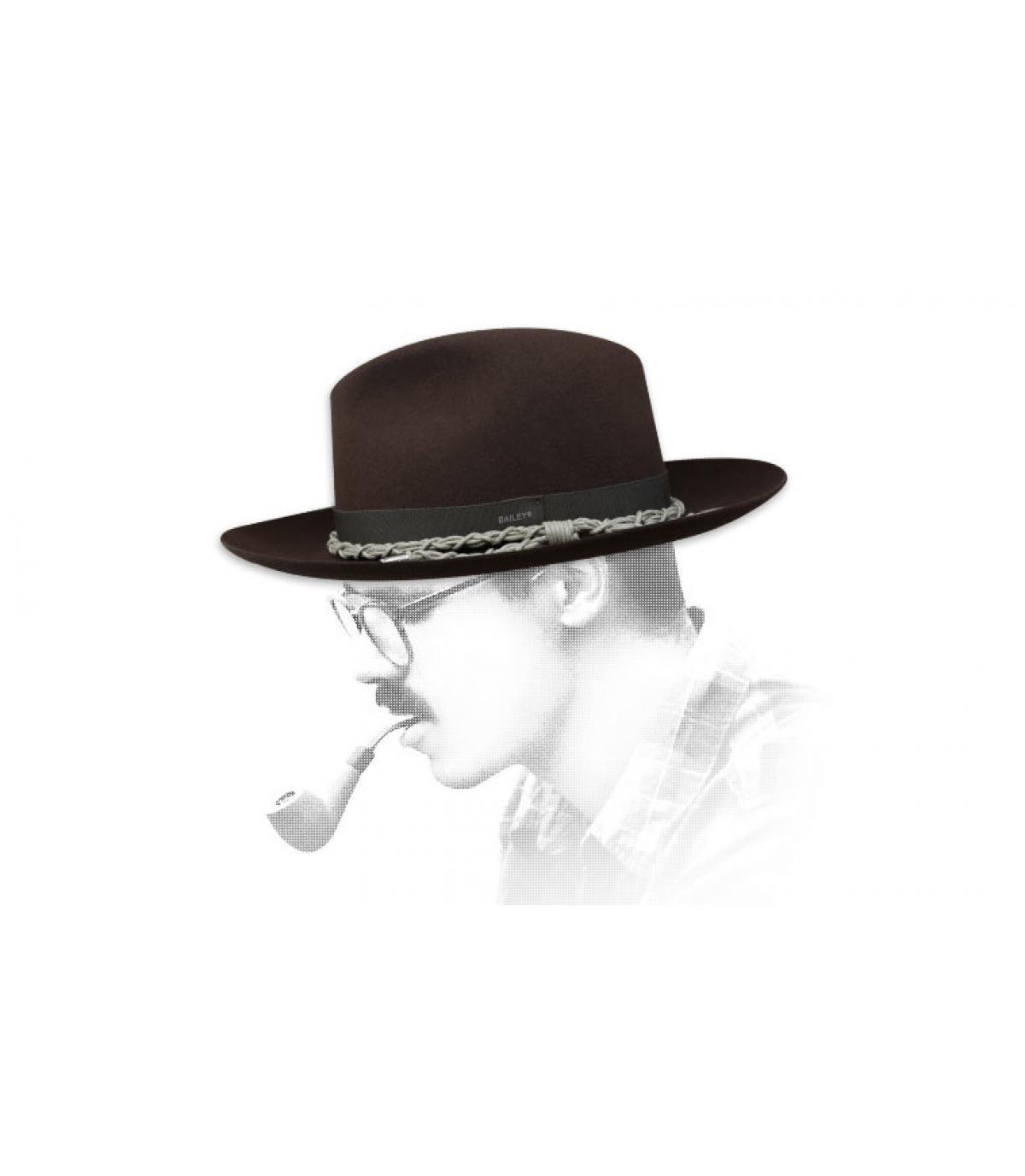 Cappello in feltro marrone Bailey