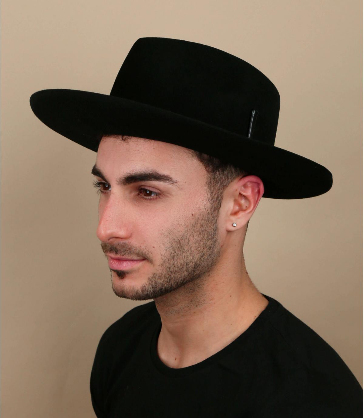 Cappello Bailey in feltro nero