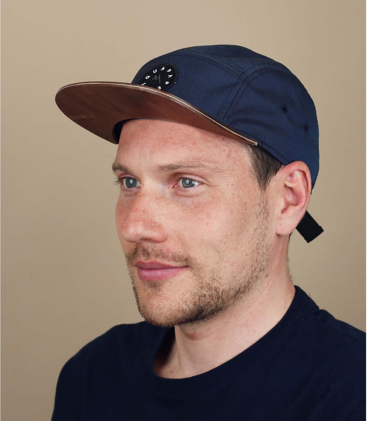 Cappellino blu 5 pannelli Guapa Peaks