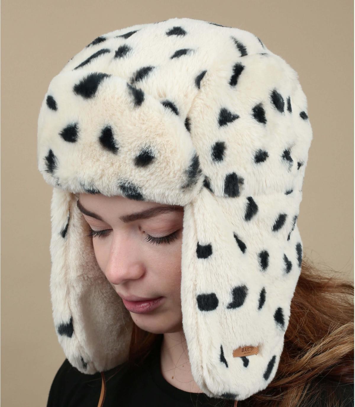 cappello di pelliccia stampato