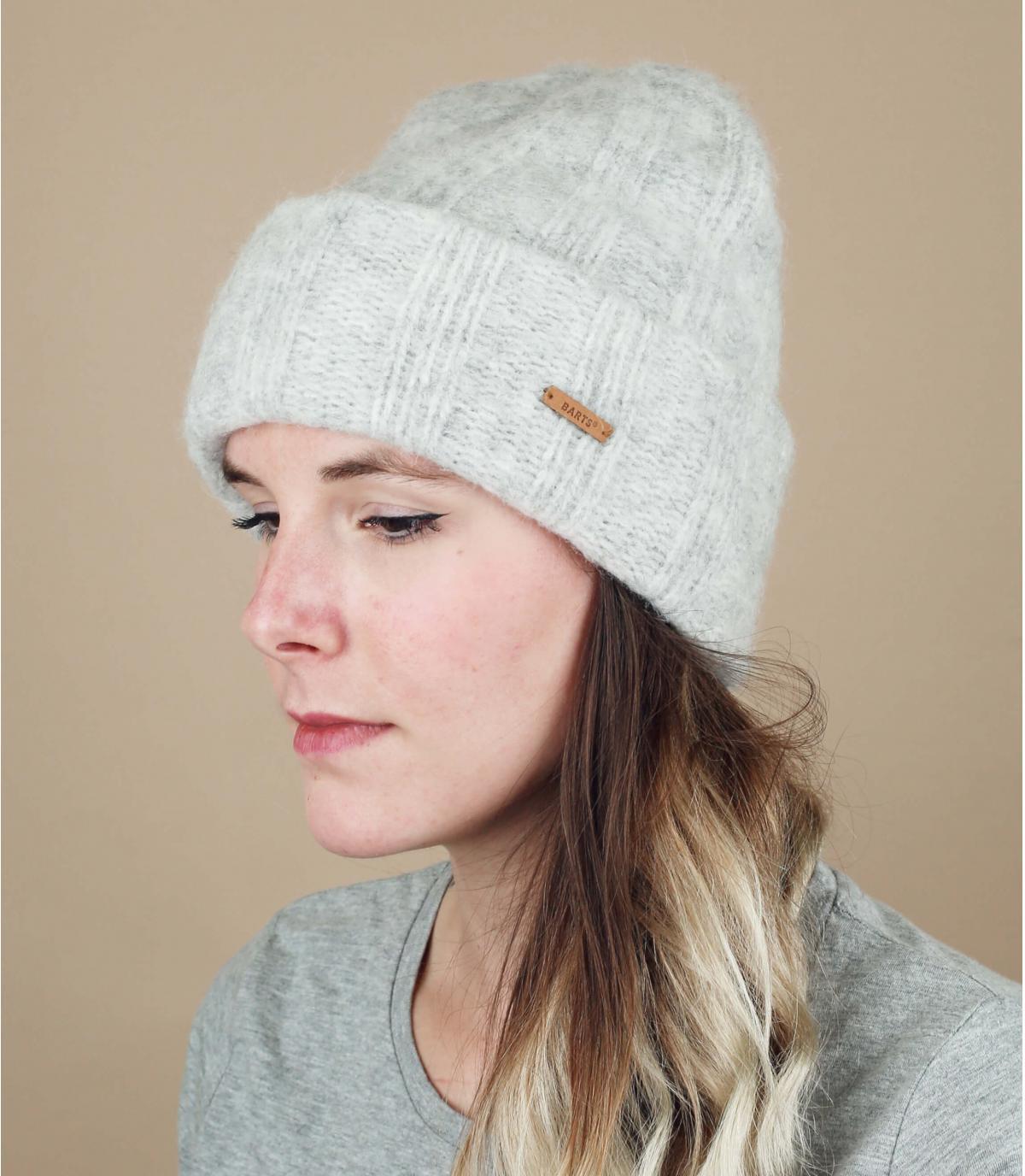 cappello di alpaca grigio