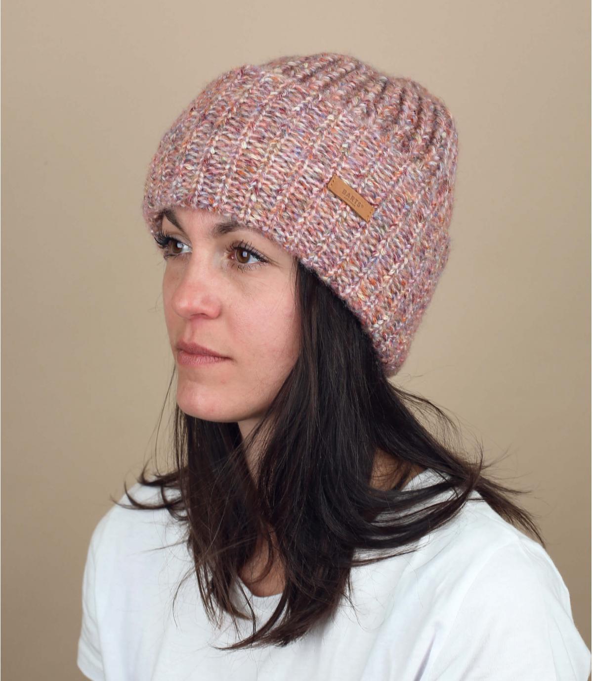 berretto rosa melange