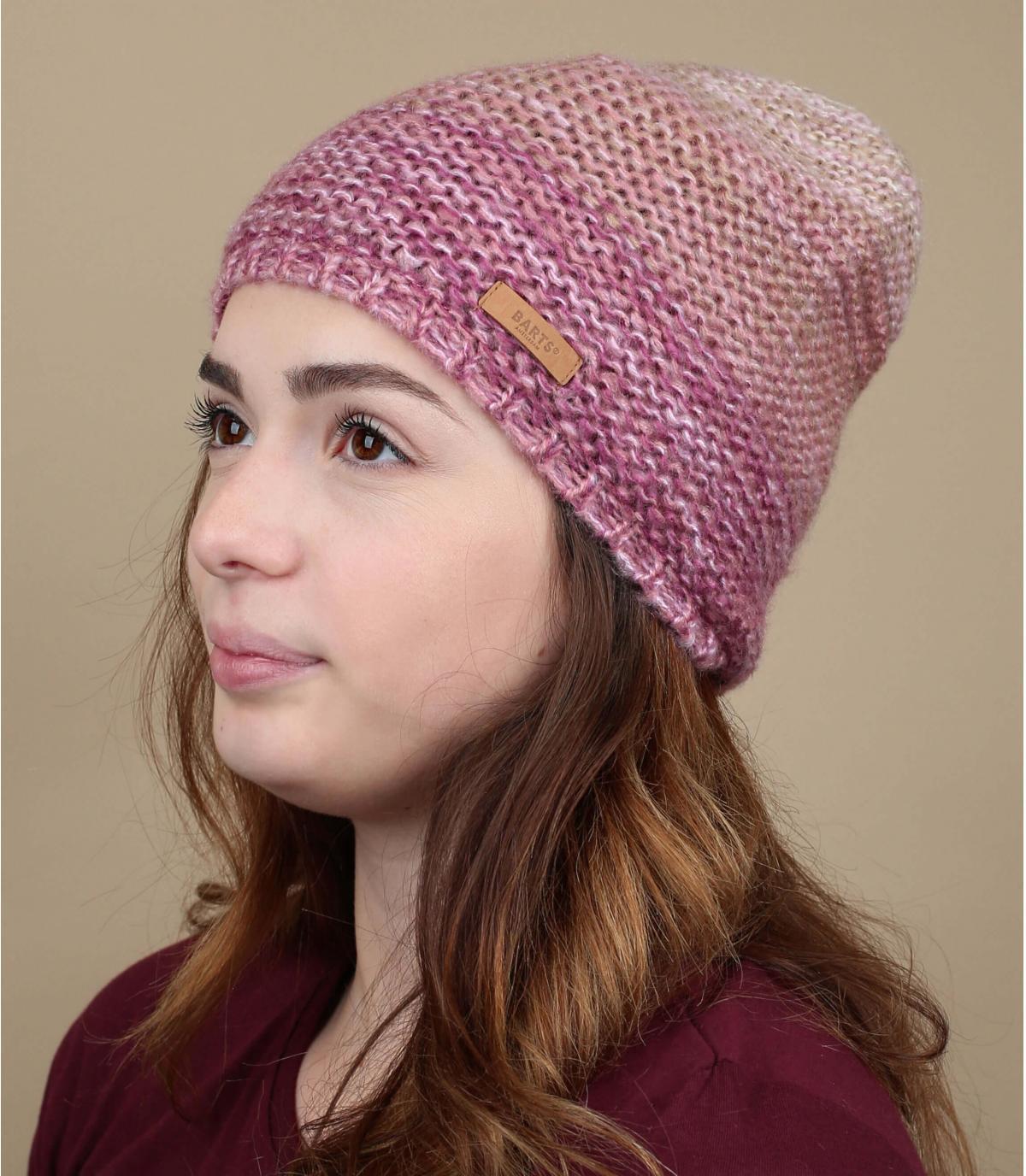 berretto rosa sfumato