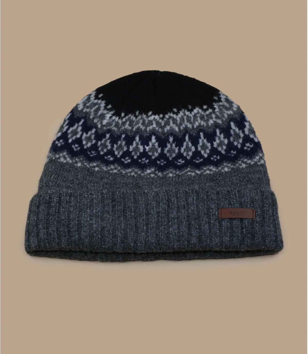 cappello fantasia foderato grigio