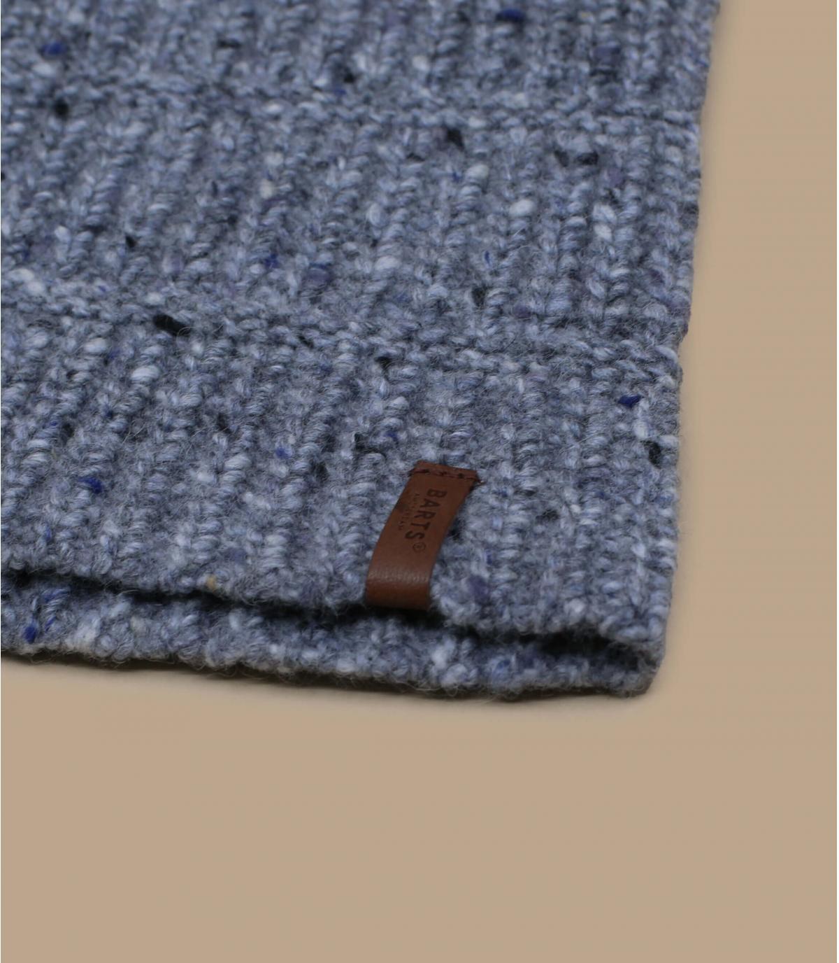 berretto lungo in lana di alpaca grigia