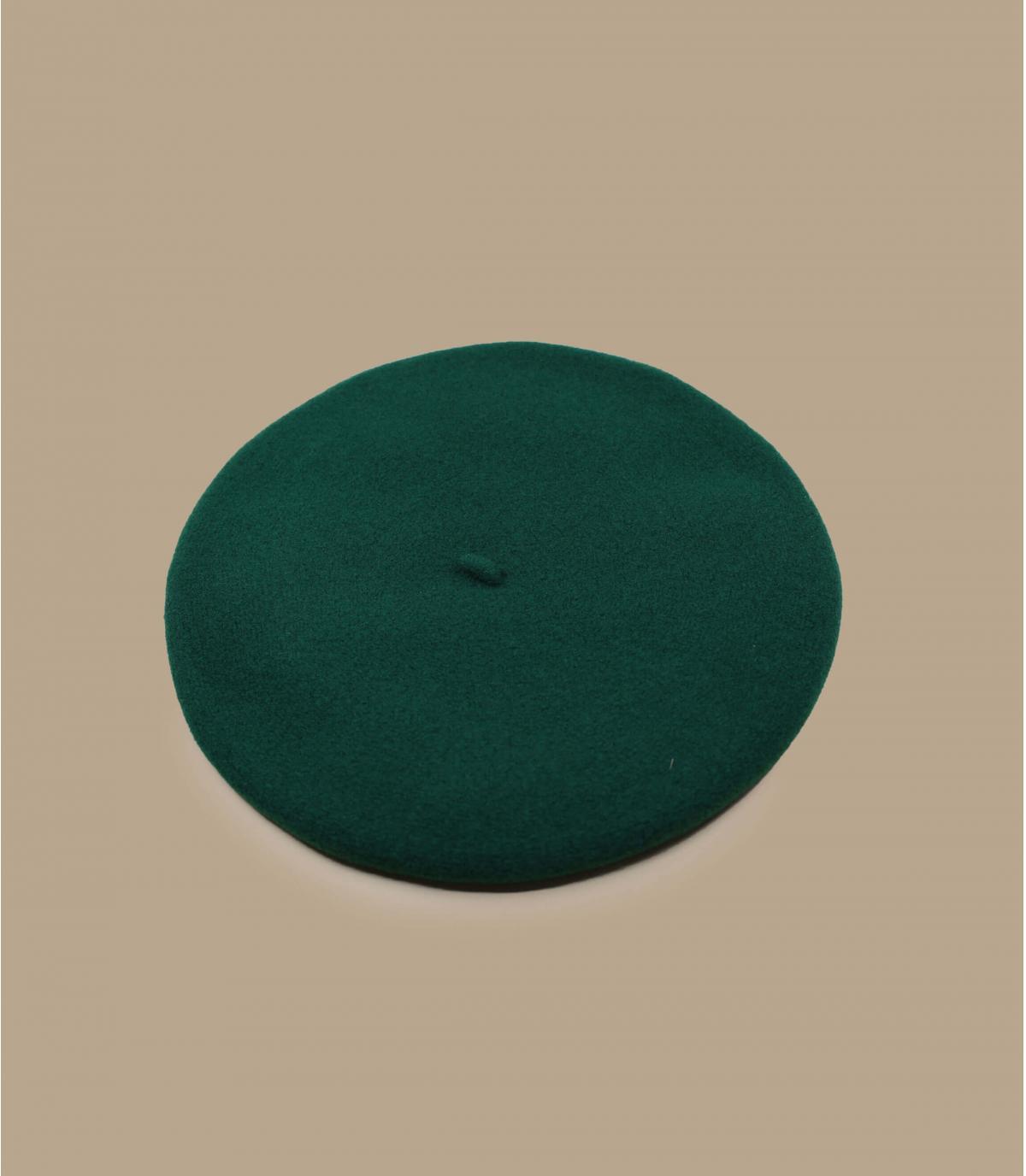 Berretto verde Merino Laulhère
