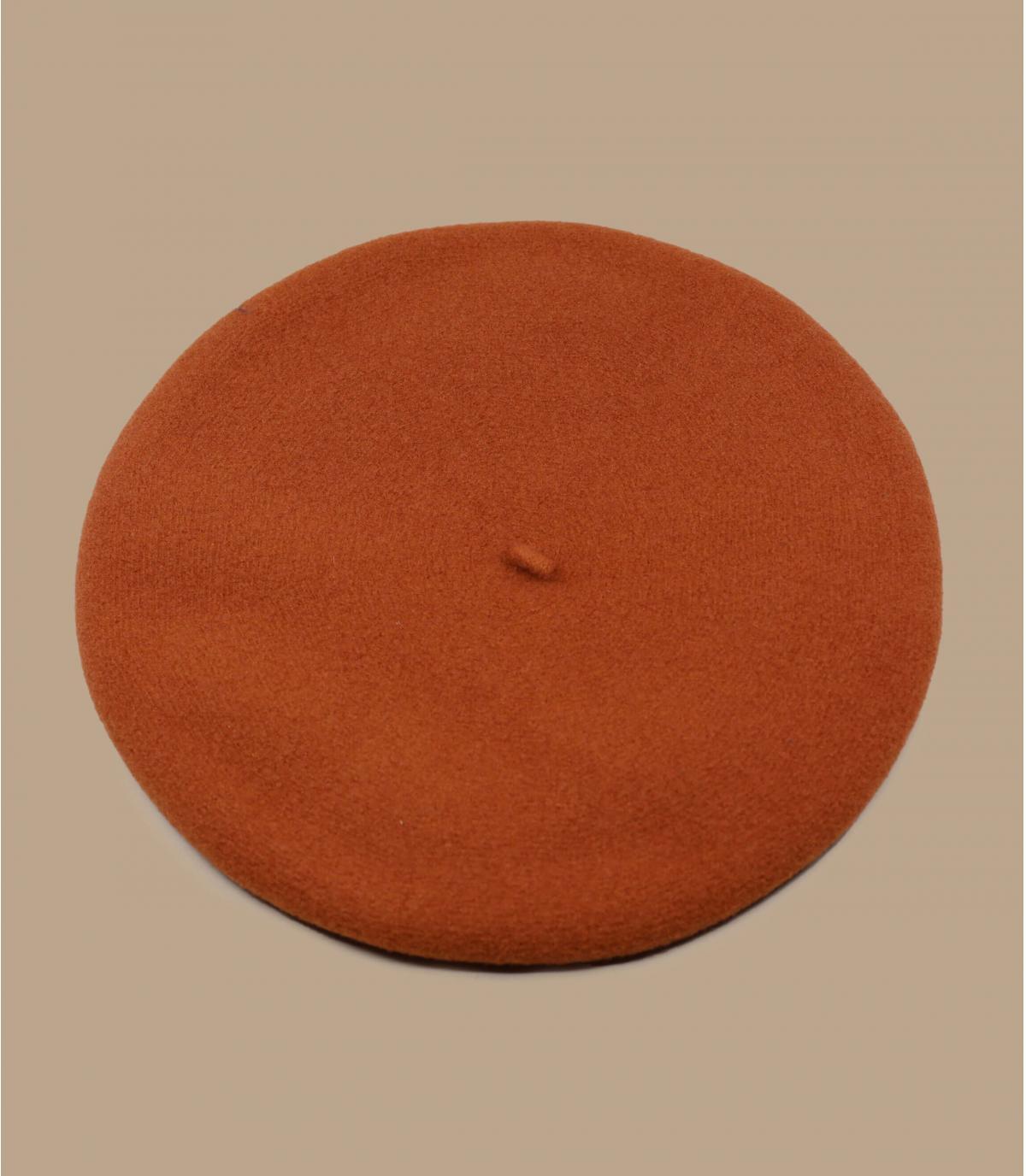 Berretto Laulhère arancio merino