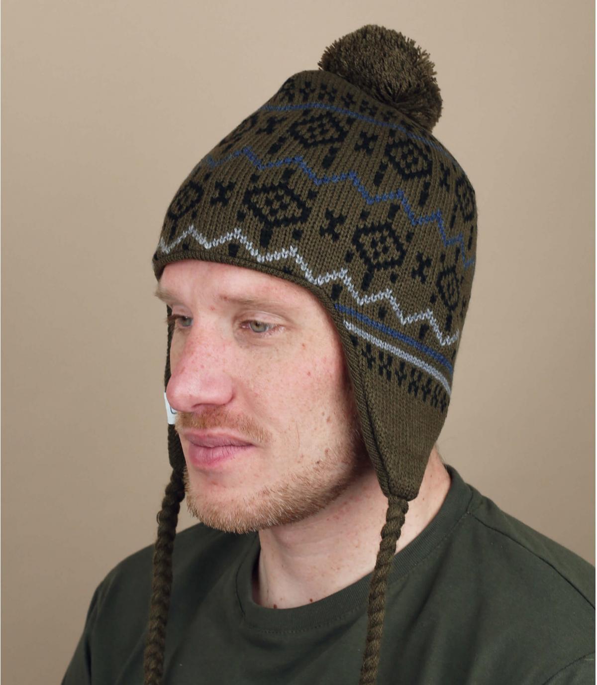 cappello peruviano verde Coal