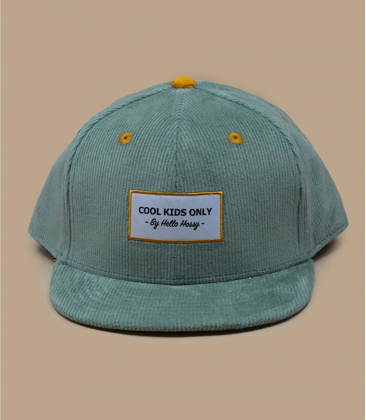 berretto di velluto blu per bambini