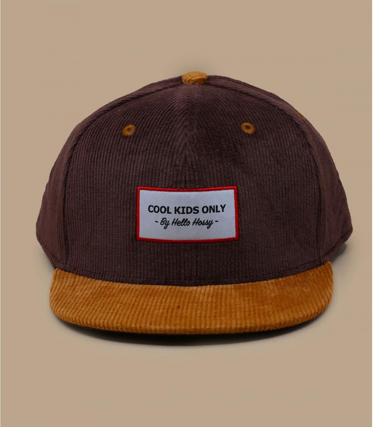 berretto di velluto marrone per bambini