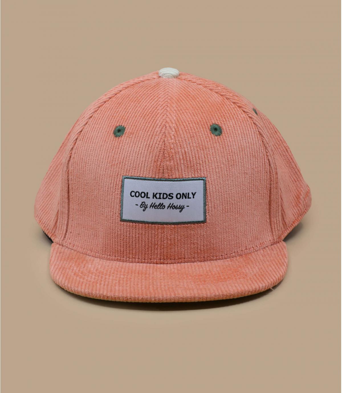 berretto per bambini in velluto rosa