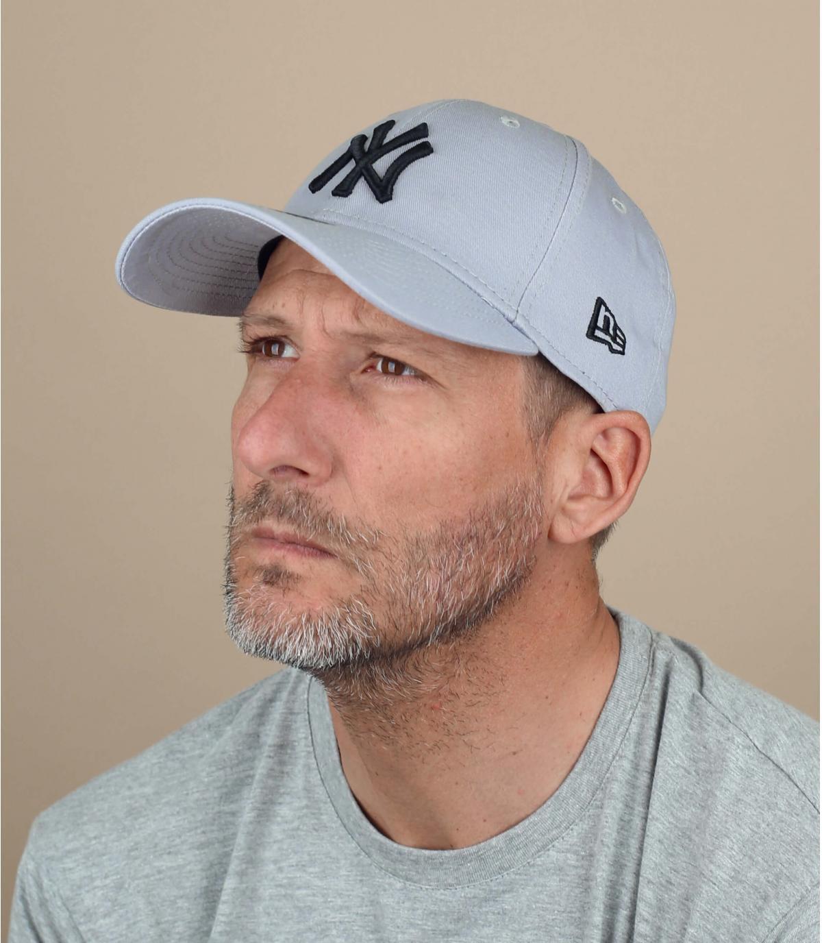 berretto NY nero grigio