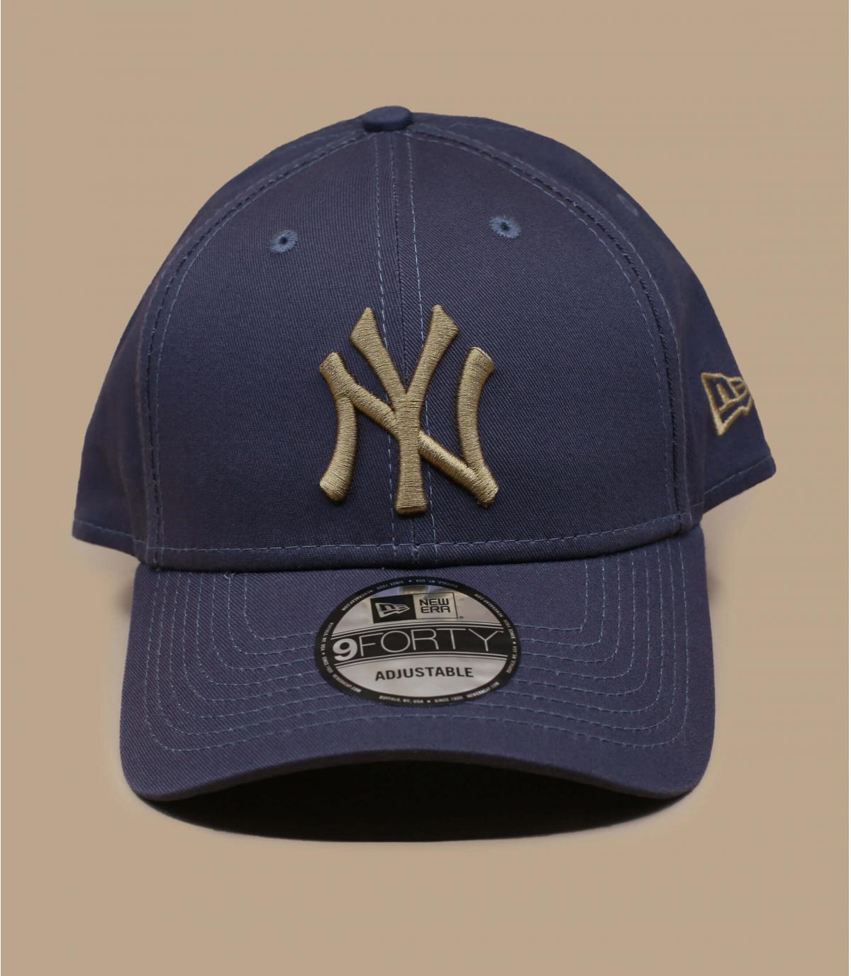 berretto NY grigio beige