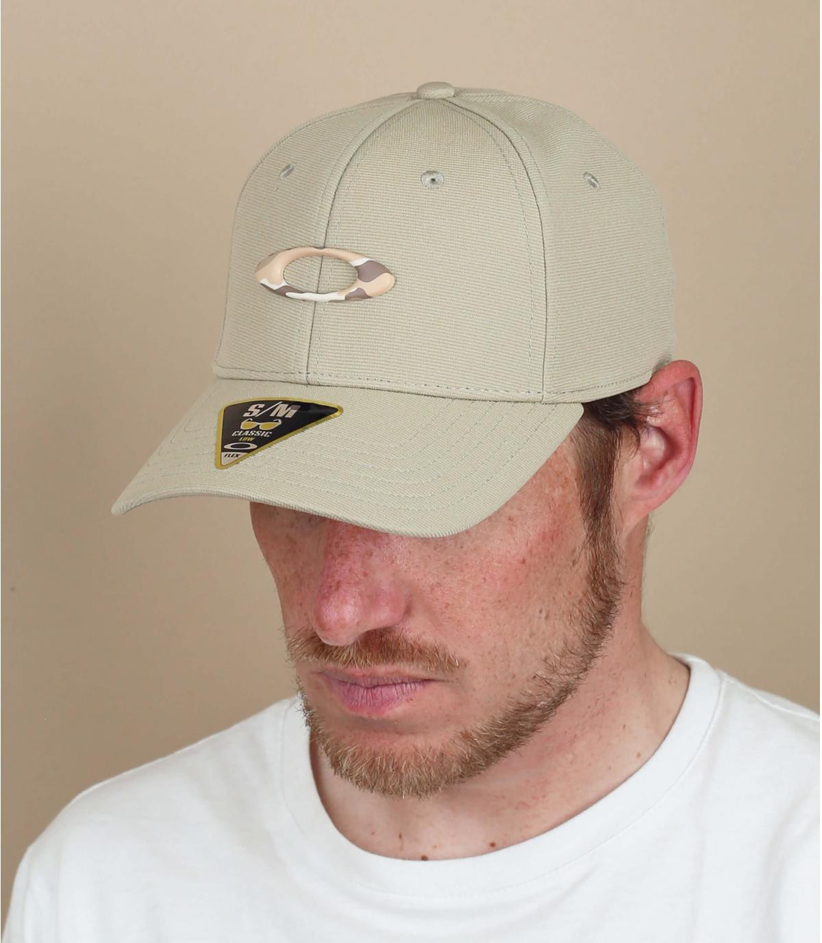Cappellino con logo Oakley beige