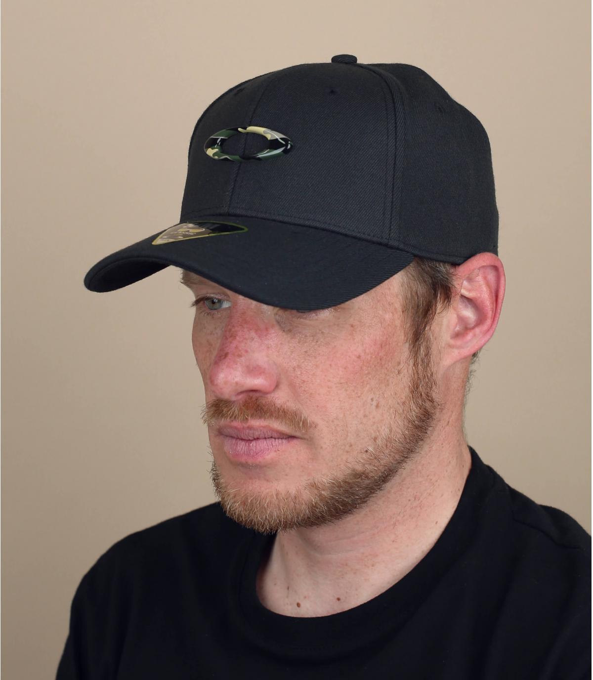 Cappello Oakley nero mimetico
