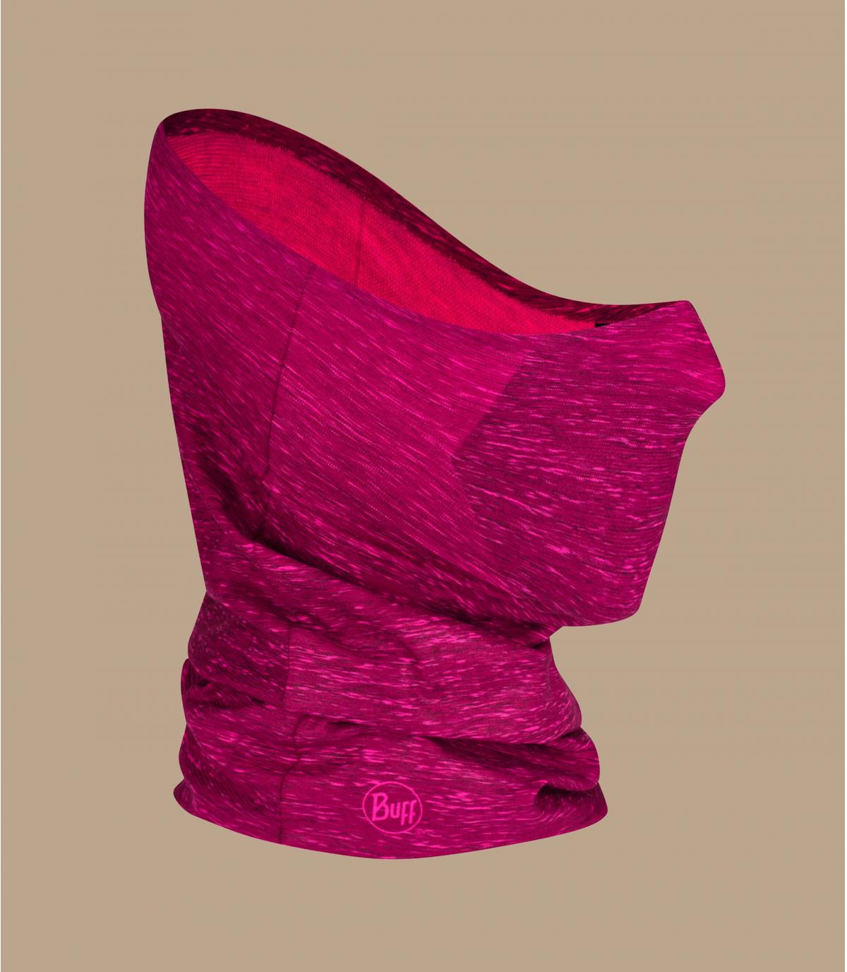 scaldacollo rosa con maschera Covid