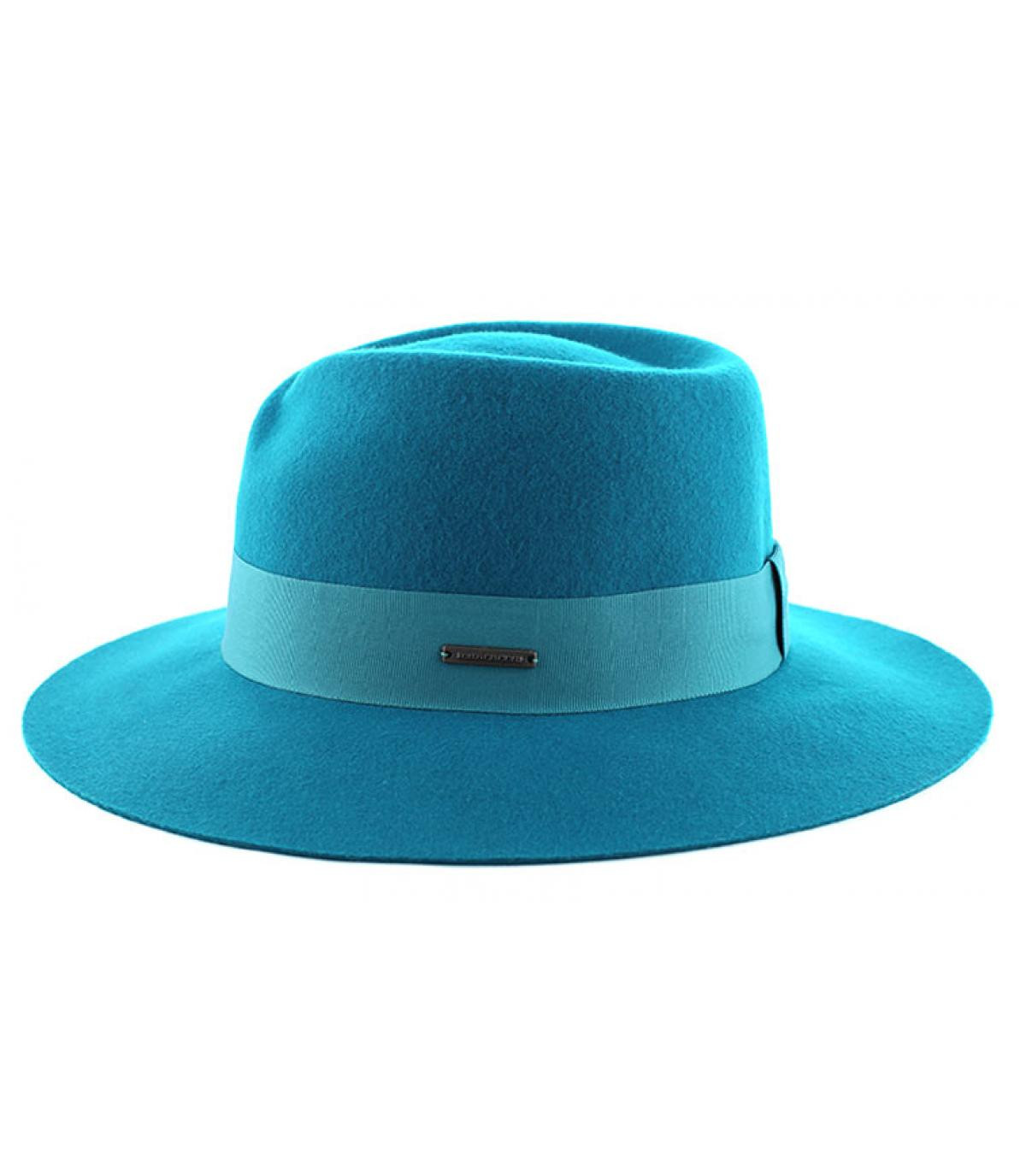 Cappello donna fedora blu