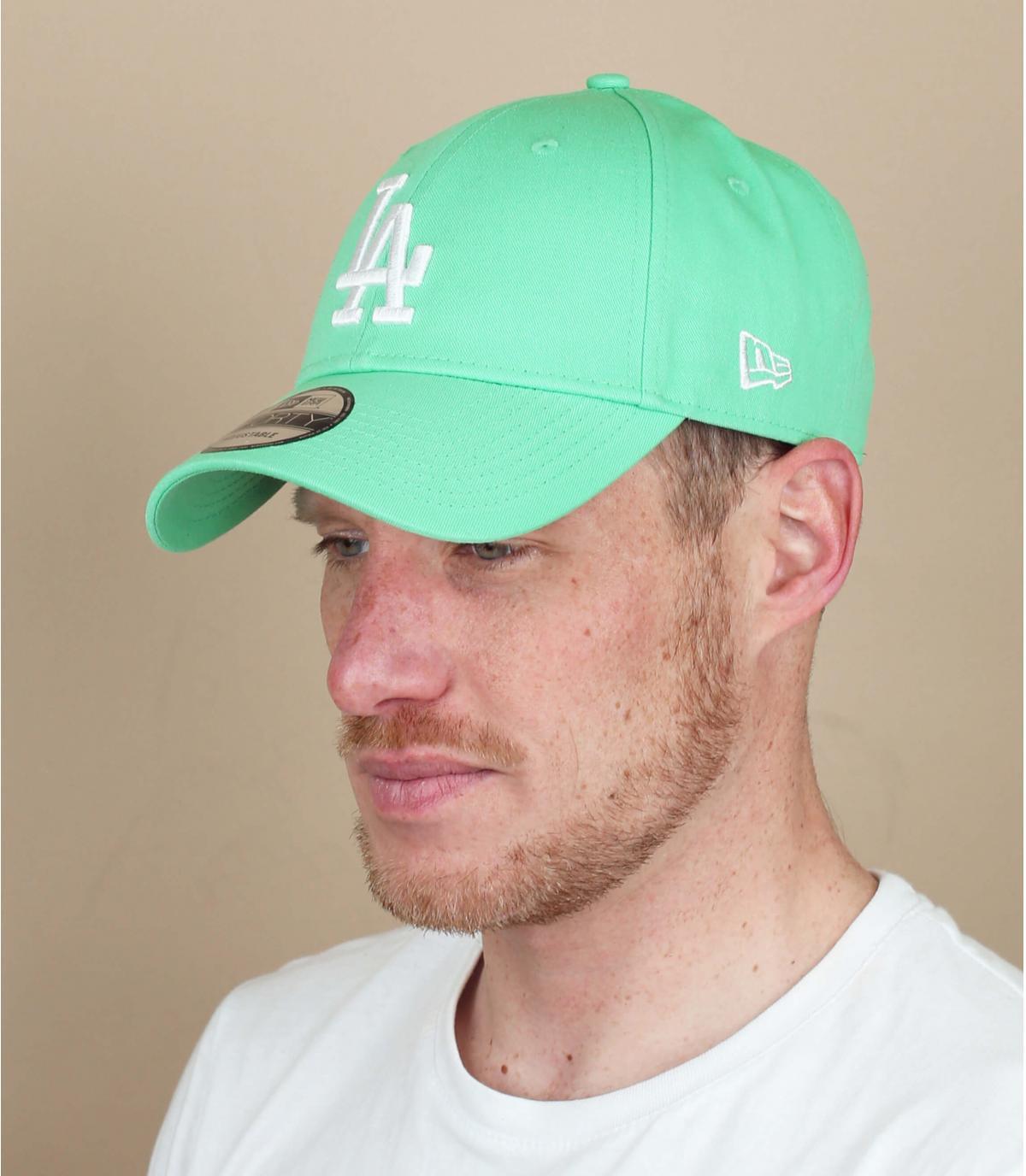 Cappellino LA blu verde