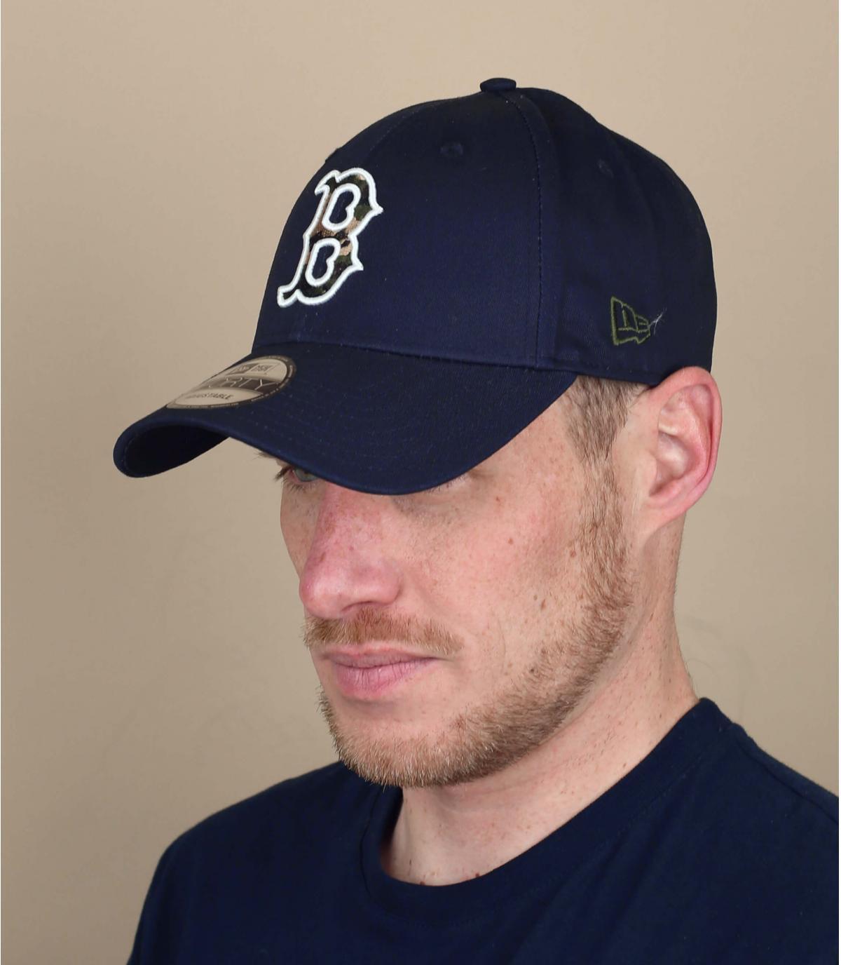 Cappellino Boston camo blu