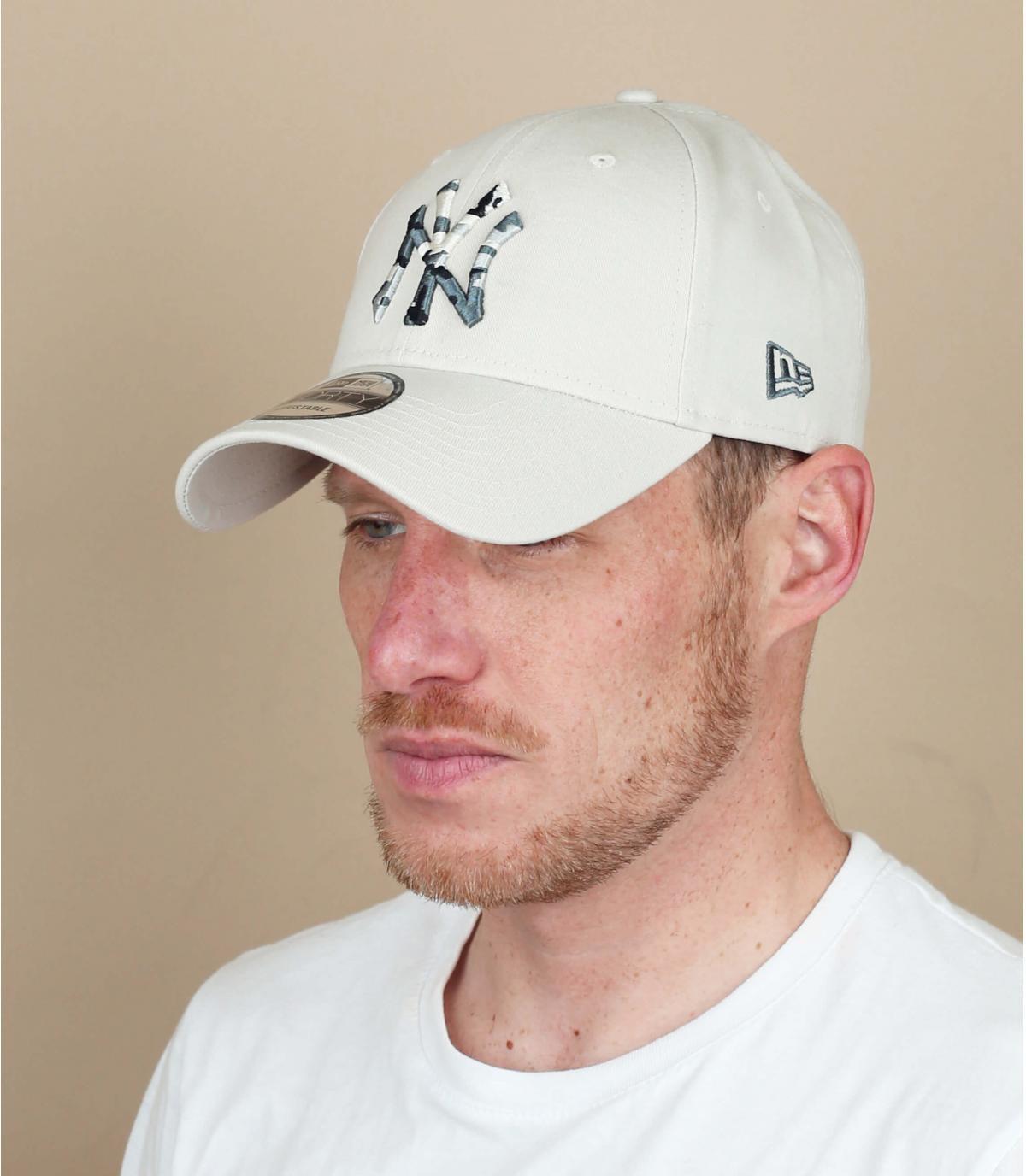 cappellino NY mimetico beige