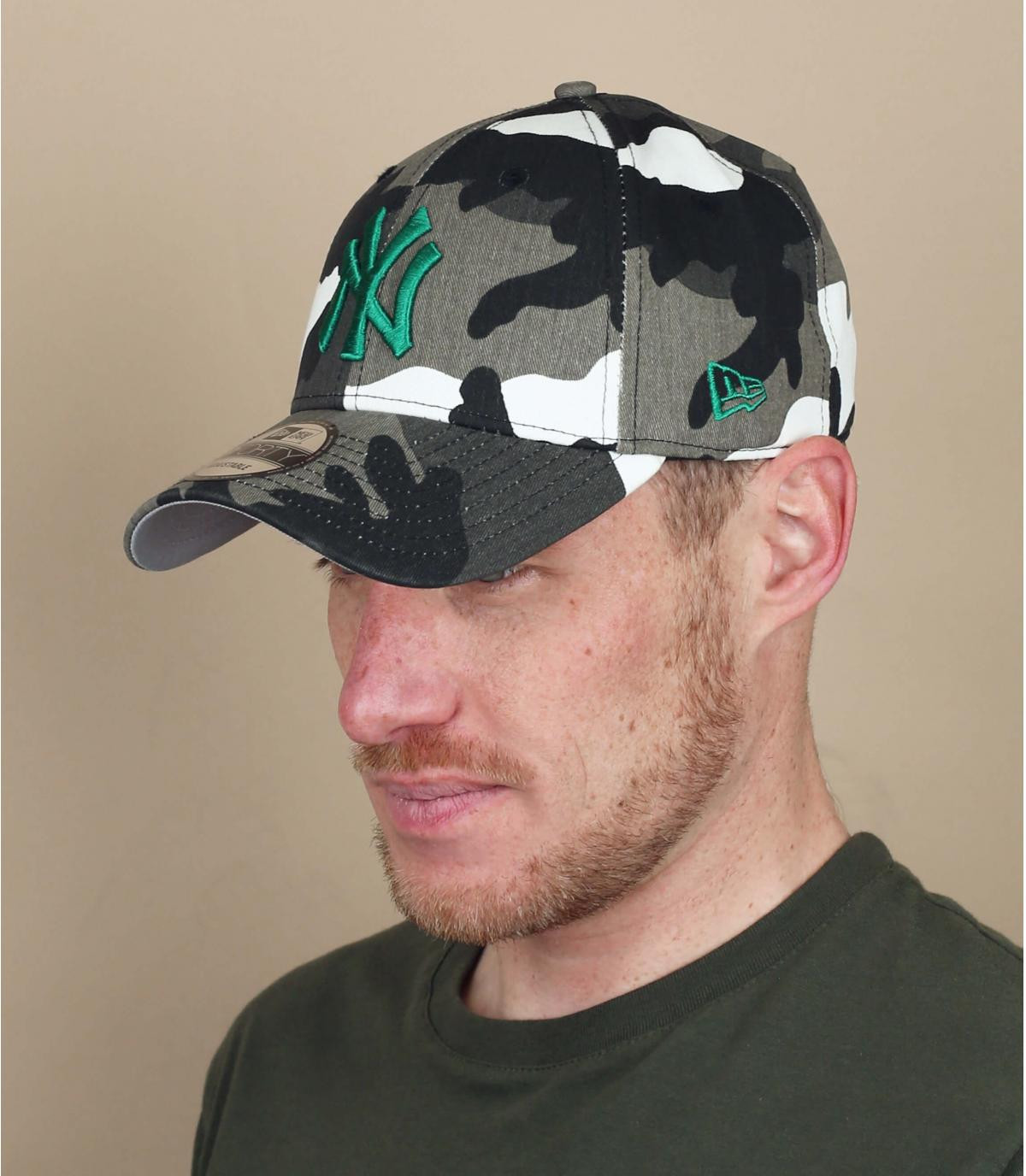 Cappellino NY grigio mimetico