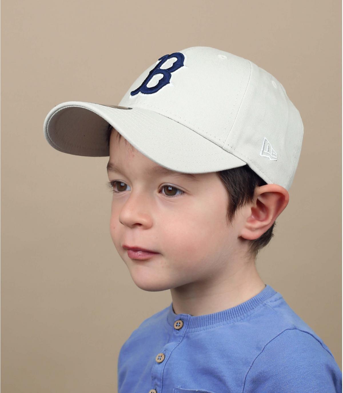 berretto B per bambini beige