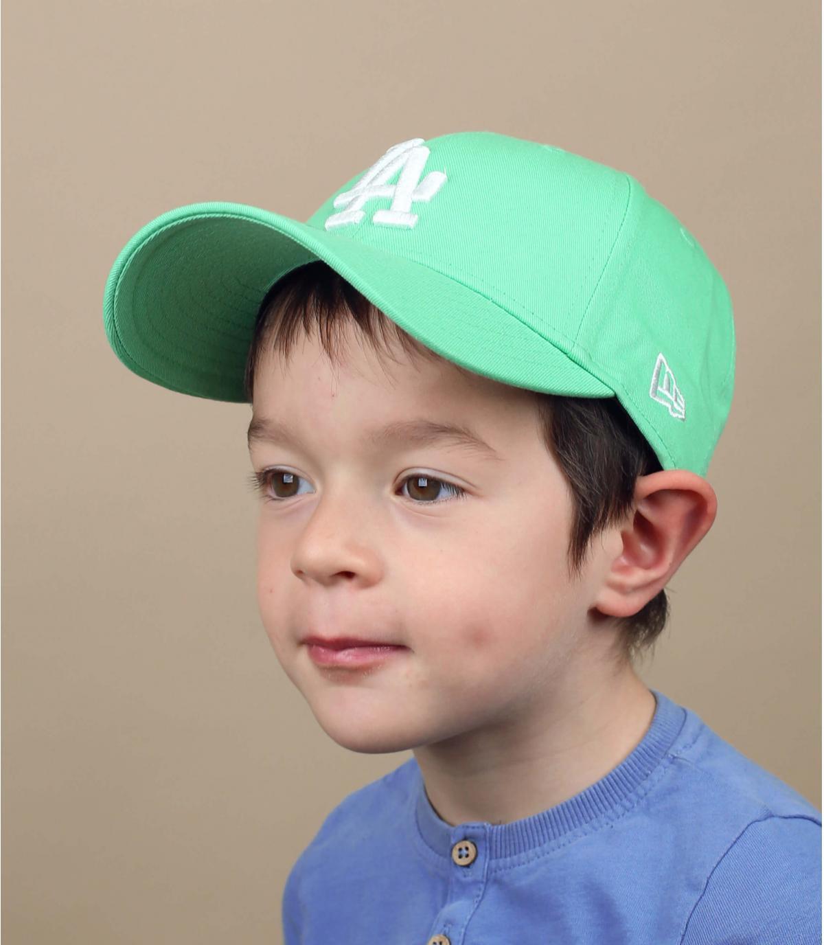 berretto LA bambino blu verde