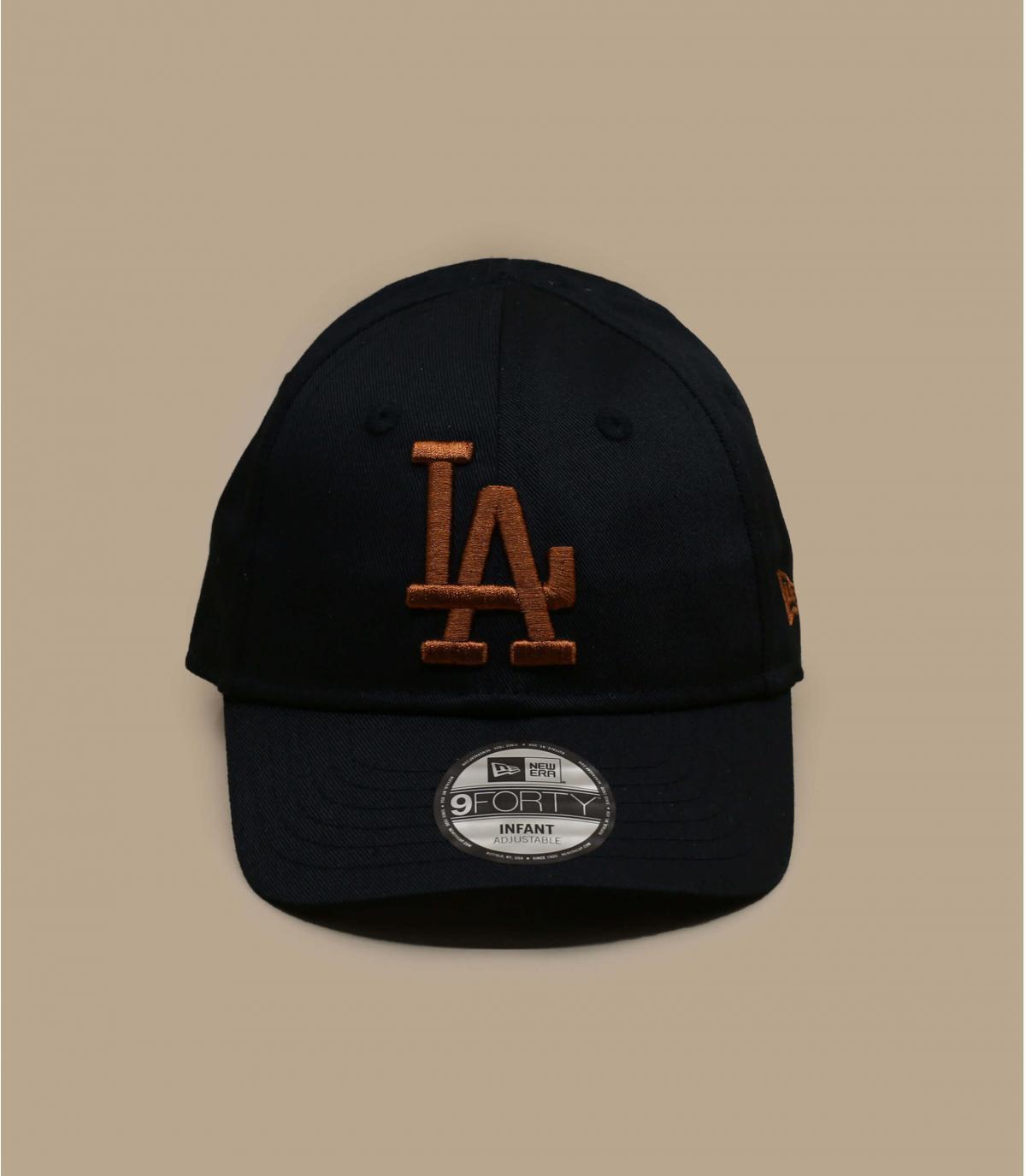 berretto nero LA baby