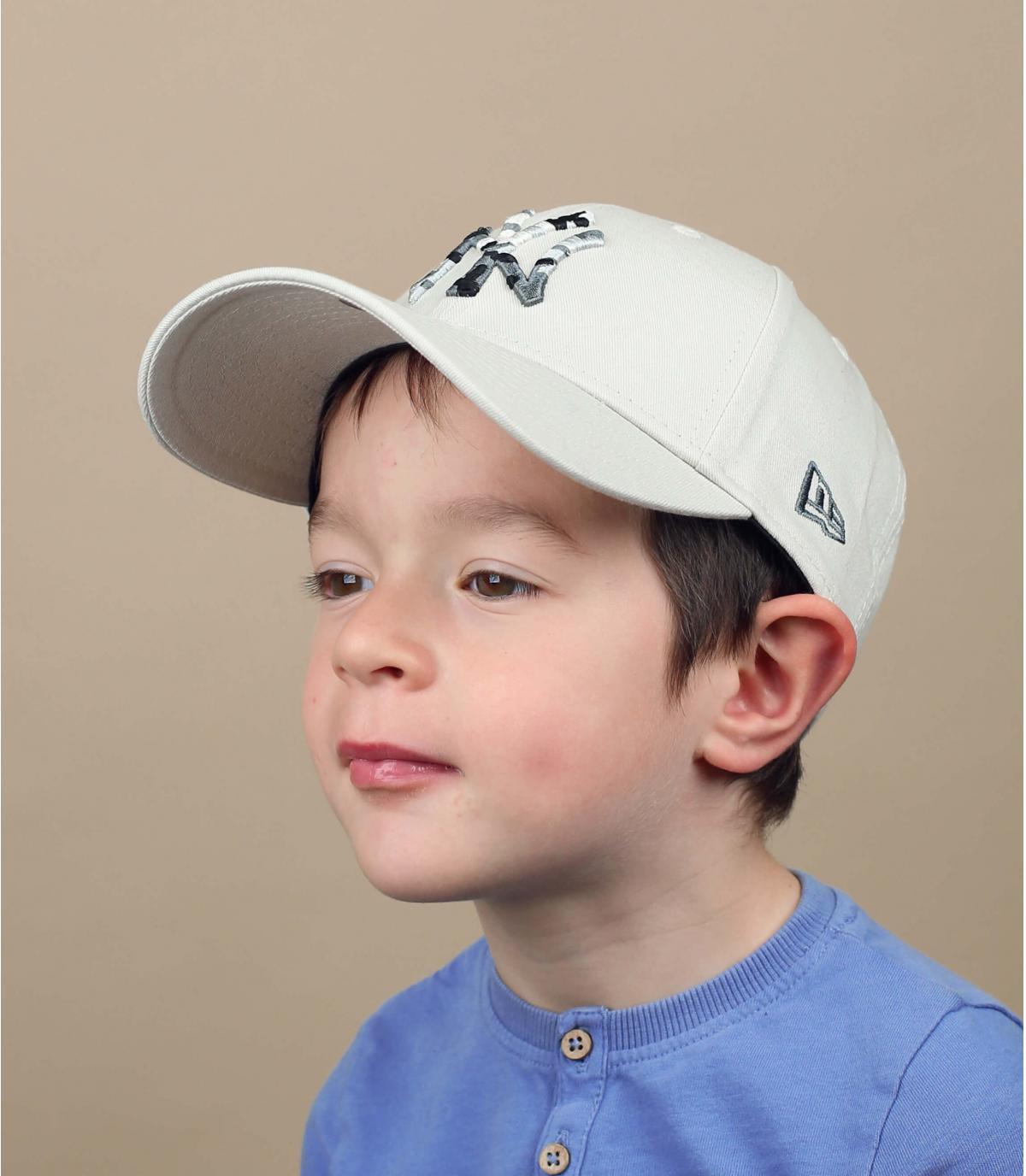 cappellino NY beige bambino