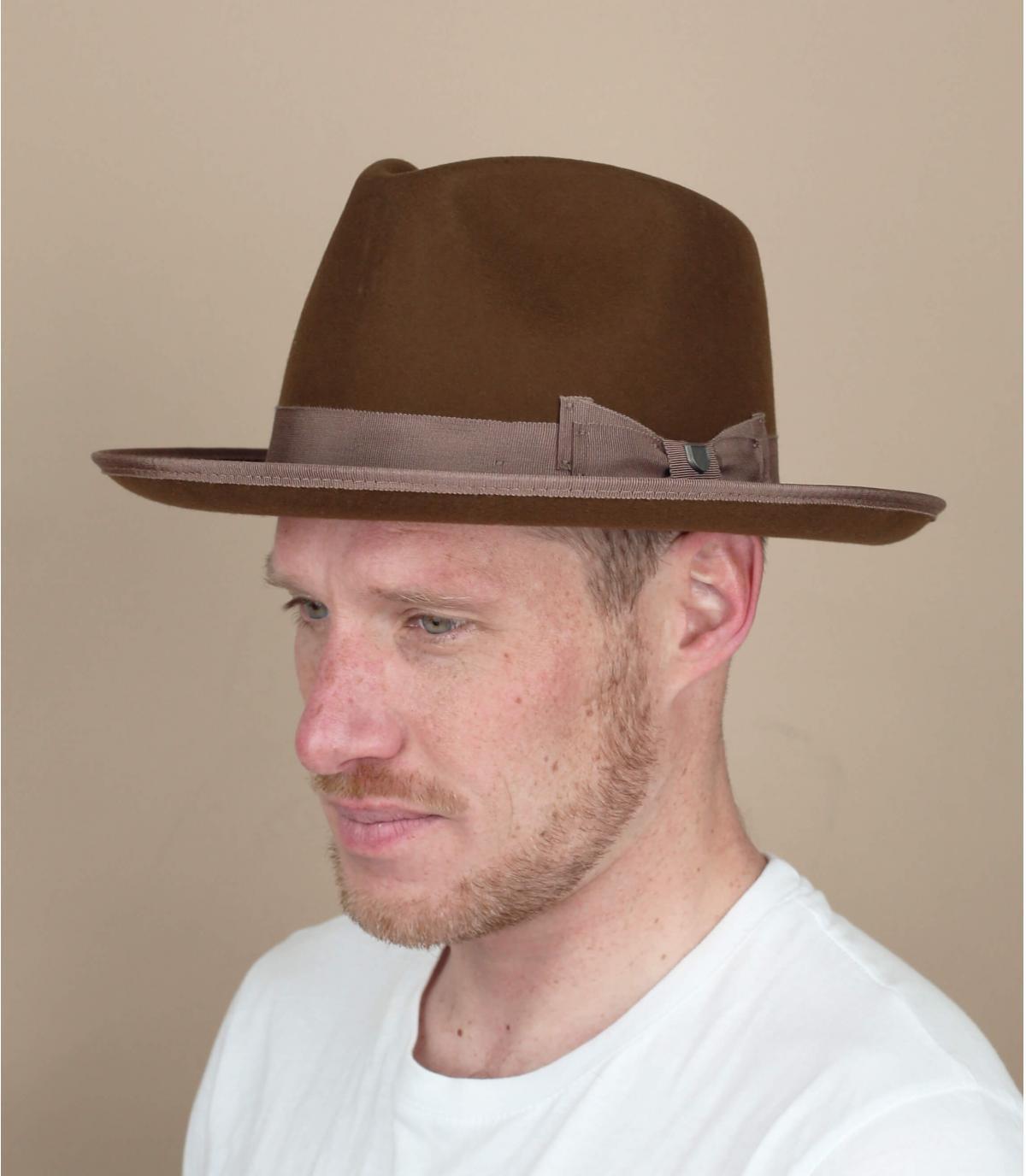 cappello marrone Brixton Norfolk