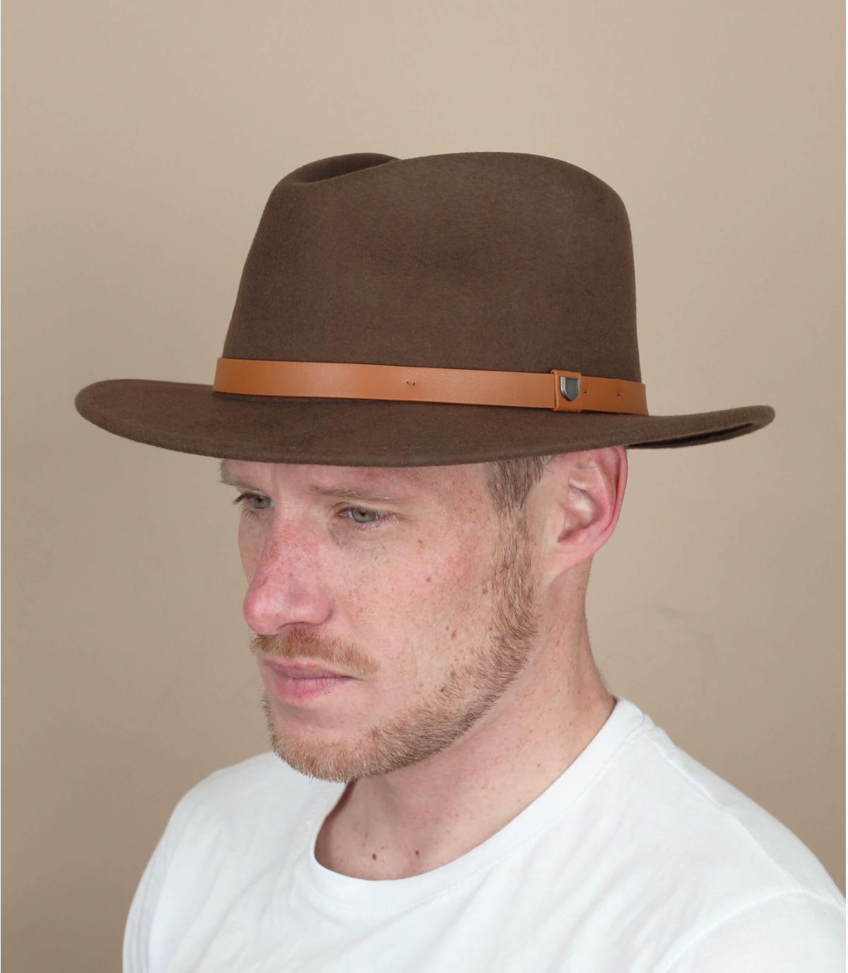 cappello feltro marrone Brixton
